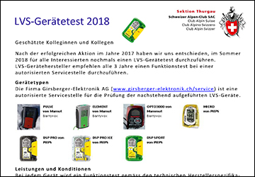 Screenshot Flyer LVS-Gerätetest 2018